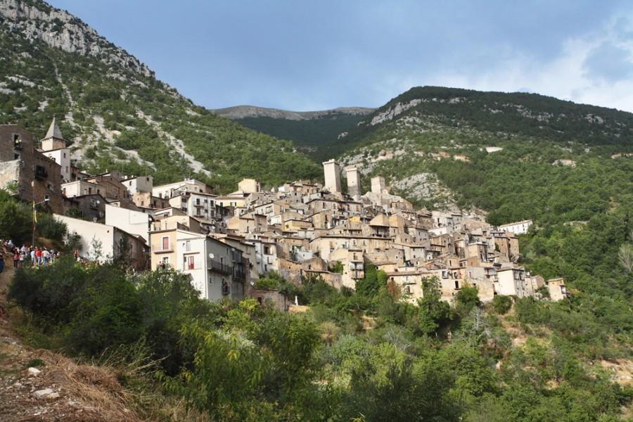 Una veduta del borgo di Pacentro