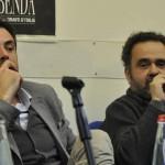da sinistra: l'enologo Marco Flacco e Alessandro Bocchetti, critico della guida Gambero Rosso
