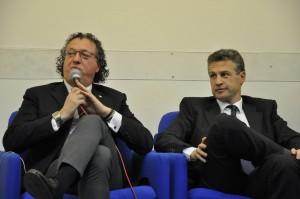 da sinistra: Luca Panunzio (Consigliere Ais Nazionale), Enrico Marramiero (Vice Presidente Consorzio Vini d'Abruzzo)