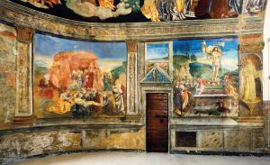 Affreschi nell'abside della Chiesa di San Panfilo, Tornimparte (Aq). Foto di Gino Di Paolo