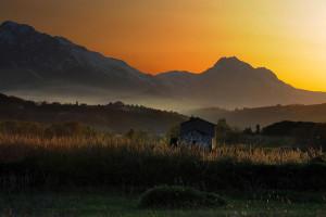 La-bella-addormentata,tramonto-Gran-Sasso-cilliabruzzo