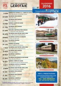 Calendario dei treni per il 2016