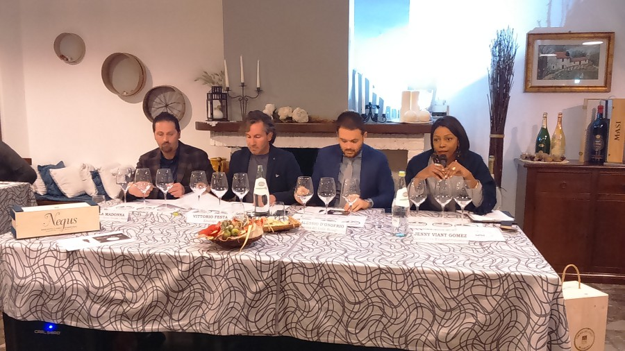 da sinistra: Nicola Madonna, Vittorio Festa, Alessio D'Onofrio, Jenny Viant Gómez