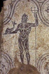 Particolare del mosaico delle Terme