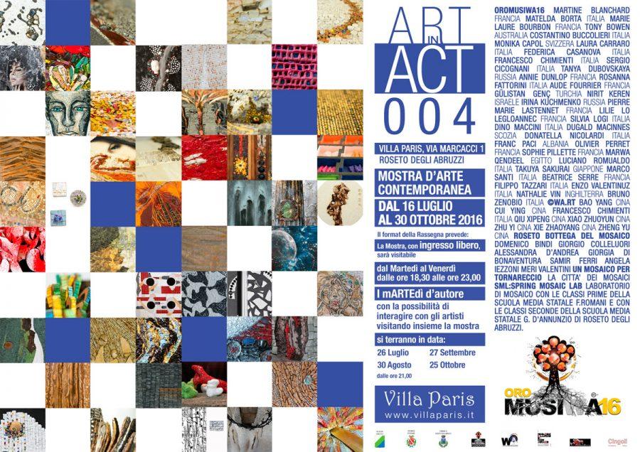 """Locandina della mostra internazionale dedicata al mosaico contemporaneo """"Oro Musiwa 2016"""""""