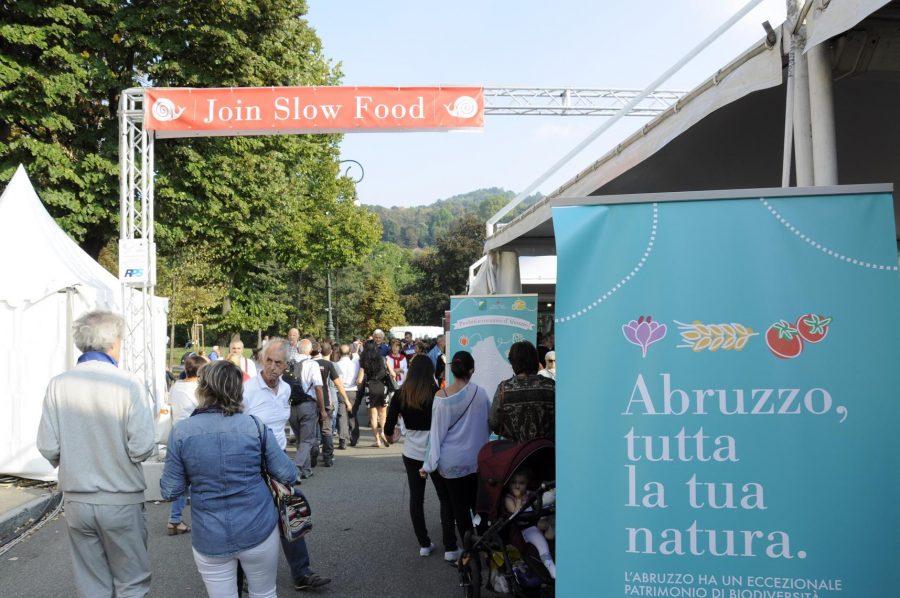 L'area del mercato riservata all'Abruzzo