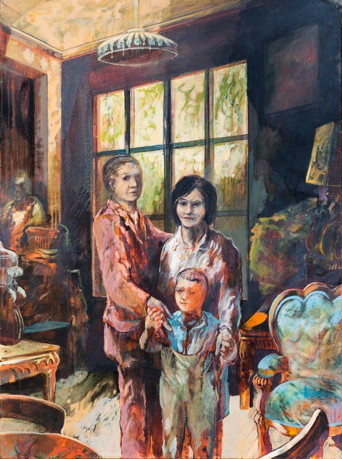 Robert Carroll: Momento familiare, 1966, olio su tela cm. 130X97