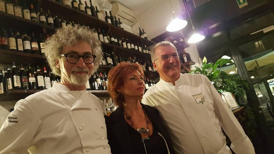 Da sinistra: Vittorio Fusari, Maida Mercuri, Peppino Tinari