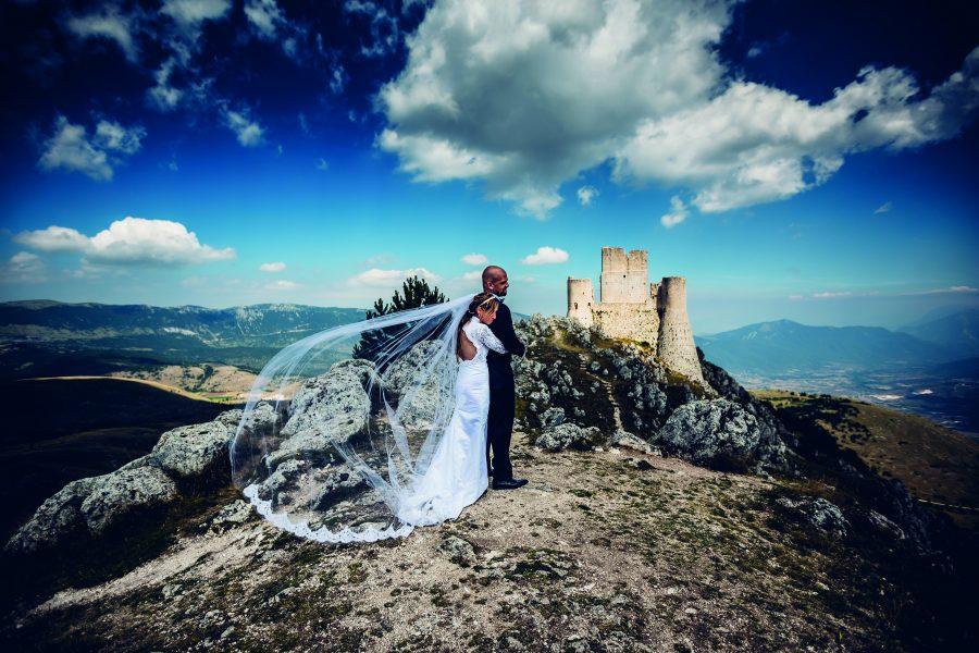 una suggestiva veduta di Rocca Calascio.