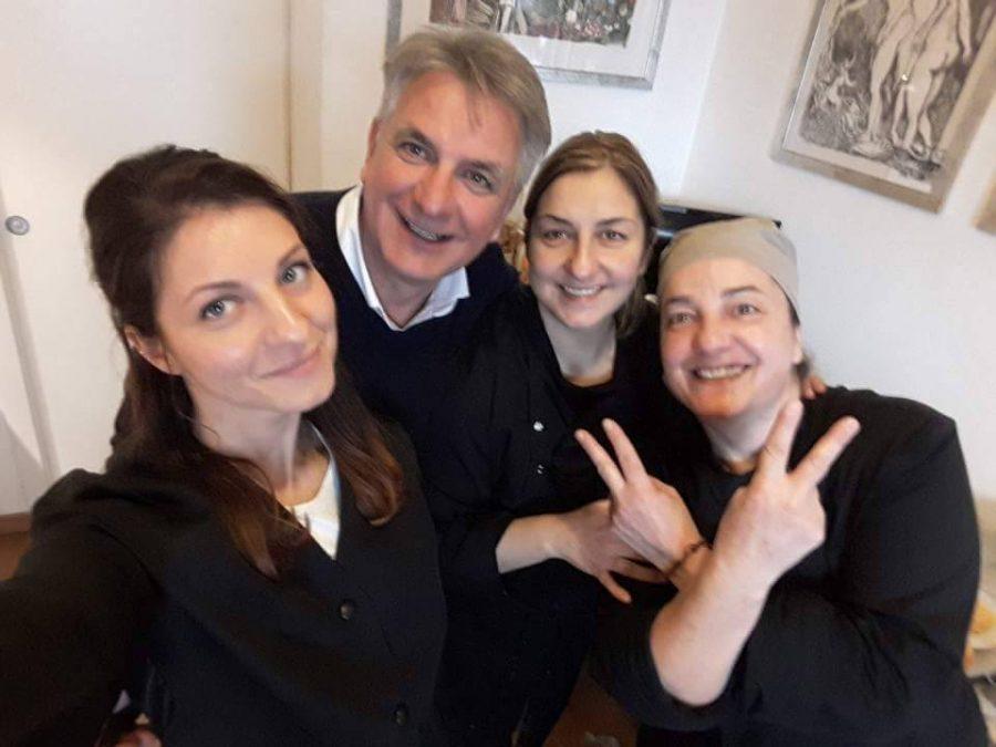 Da sx: Camilla, Antonello, Nadia e Vilma Moscardi