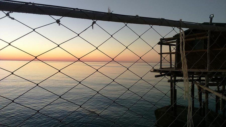Tramonto visto dal Trabocco Punta Le Morge a Torino di Sangro (ph. Ivan Masciovecchio)