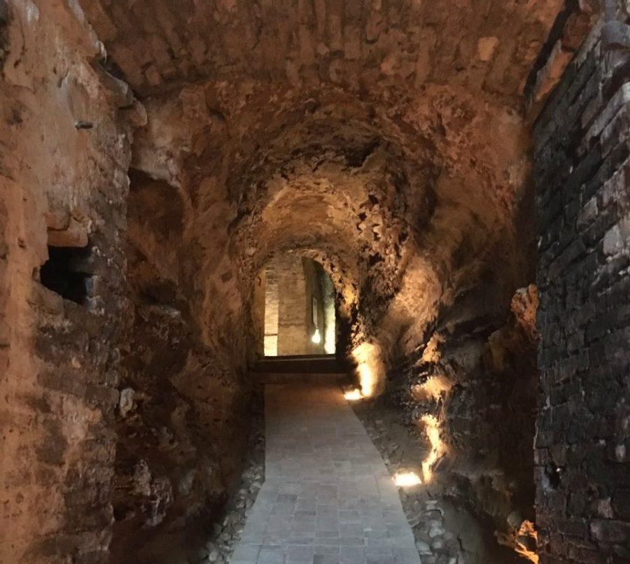 Le grotte presenti sotto al palazzo Ciavolich a Miglianico che ospita la Vineria