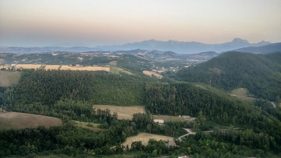 Tramonto dalla Fortezza Borbonica di Civitella del Tronto (ph. Ivan Masciovecchio)