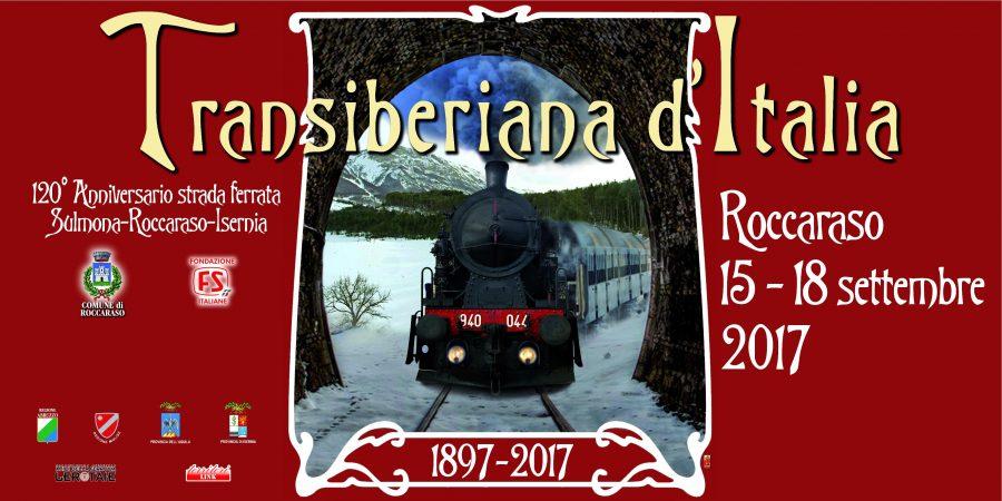 Poster celebrativo dei 120 anni della Transiberiana d'Italia