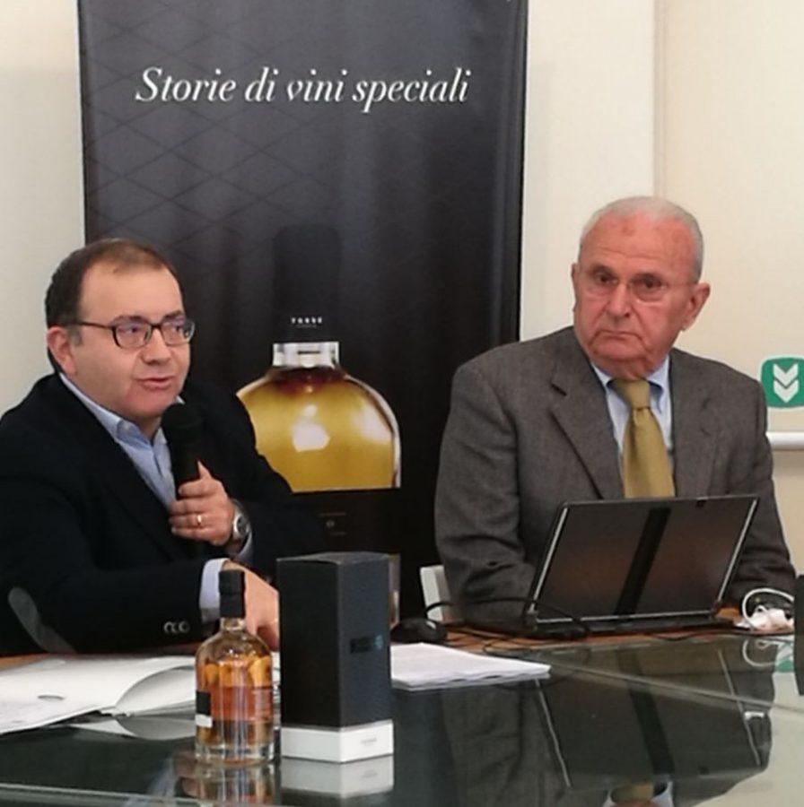 Da sinistra: Felice Di Biase e Carlo Romanelli, direttore commerciale e presidente della Cantina Frentana (ph. CdG)