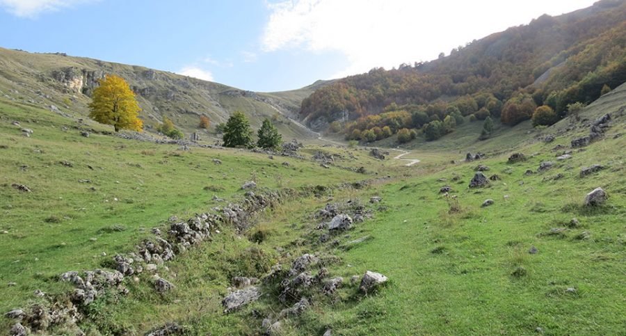 Panorama sulla valle scannese