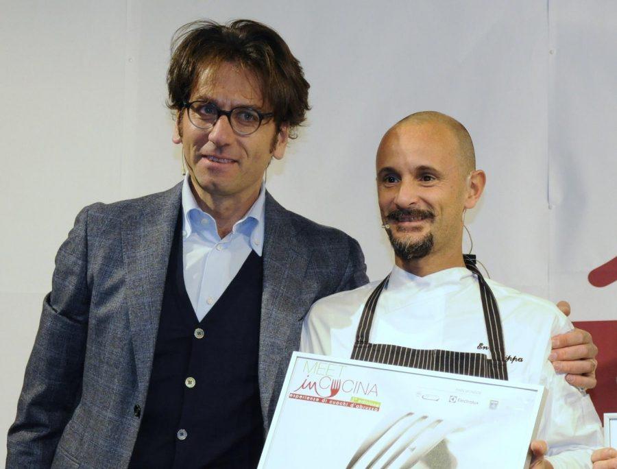 Massimo Di Cintio ed Enrico Crippa a Meet in Cucina 2017 (ph. Ivan Masciovecchio)