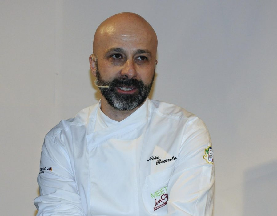 Niko Romito sul palco di Meet in Cucina 2017 (ph. Ivan Masciovecchio)