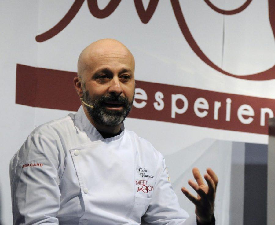 Niko Romito racconta i suoi progetti alla platea del Meet in Cucina 2018 (ph. Ivan Masciovecchio)