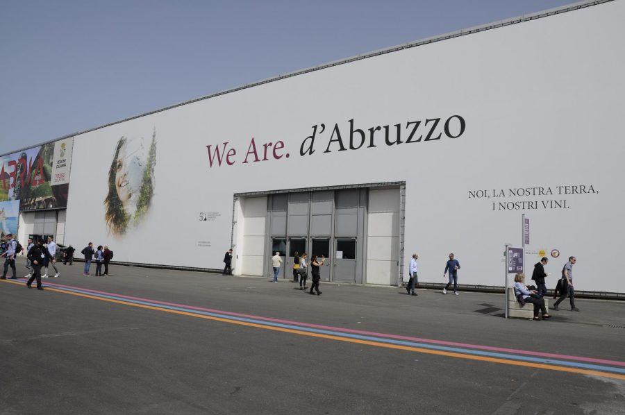 L'esterno del rinnovato padiglione Abruzzo