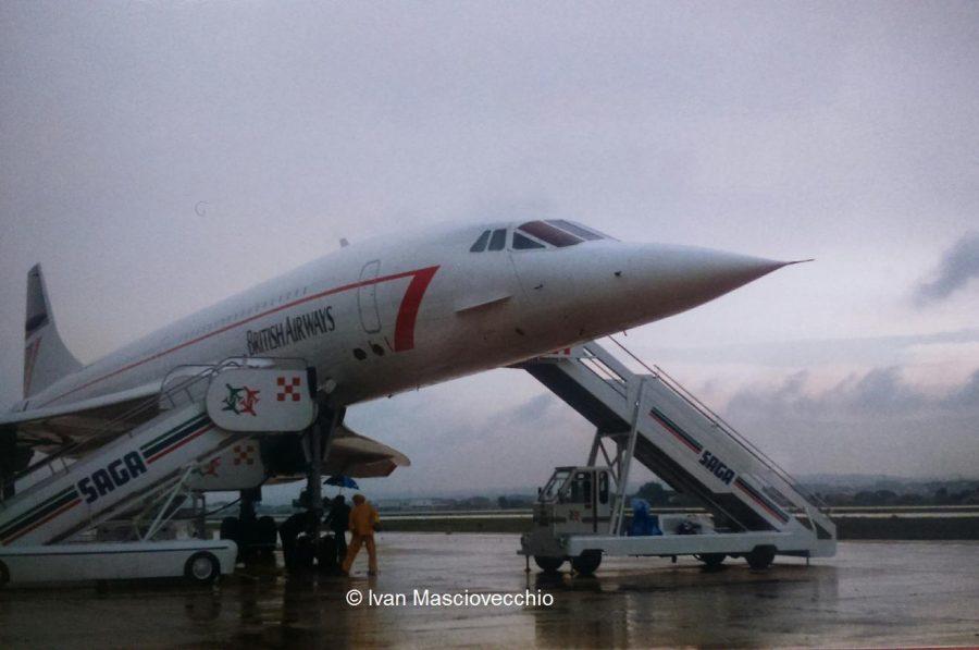 Il Concorde sulla pista dell'aeroporto Liberi (ph. Ivan Masciovecchio)