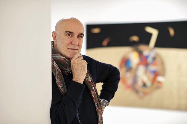 L'artista Sandro Visca.