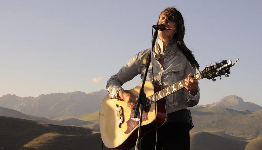 Cristina Donà live @ sunset a Calascio (ph. Ivan Masciovecchio)