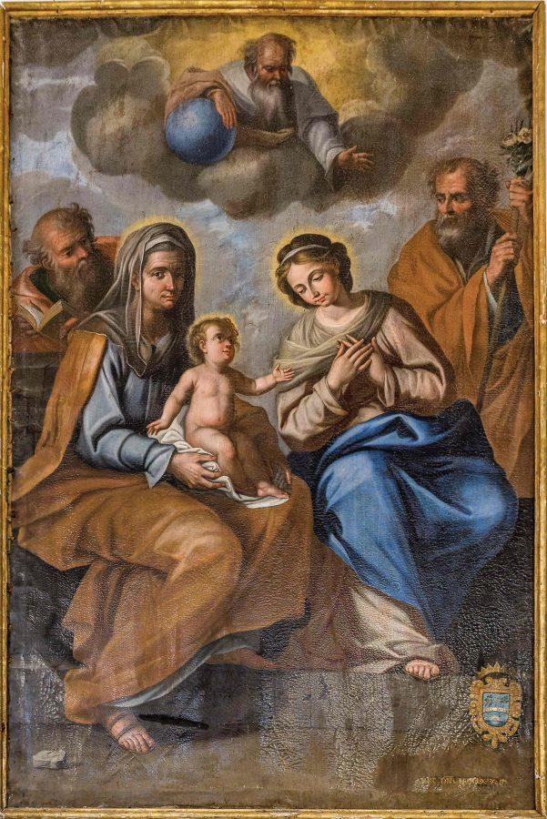 """""""la Madonna con il Bambino e Sant'Anna"""" del 1669."""