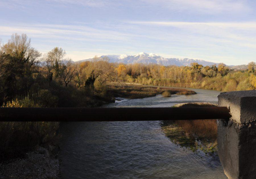 Il fiume Sangro dal ponte di Guastacconcio (ph. Ivan Masciovecchio)