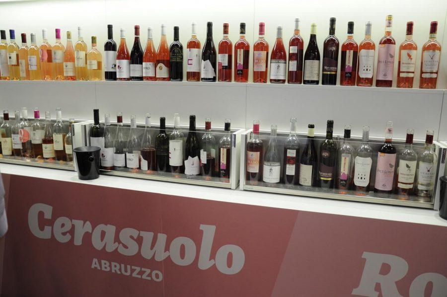"Spazio dedicato ai ""vini rosa"" al Vinitaly 2018 (ph. Ivan Masciovecchio)"