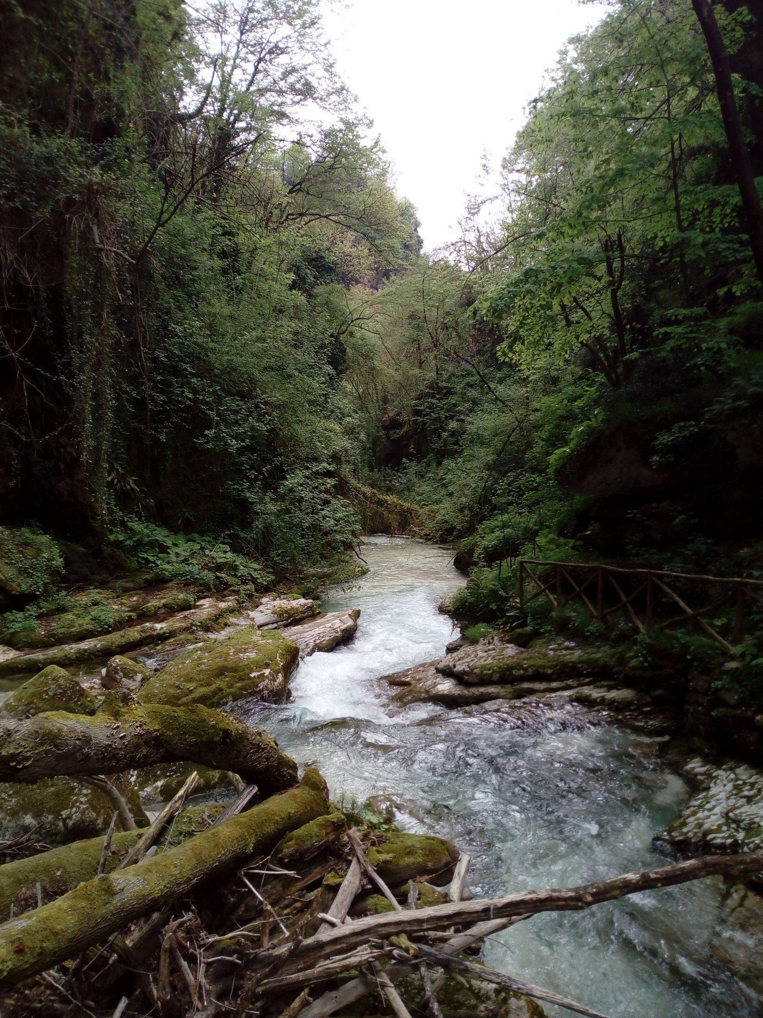 fiume orfento valle