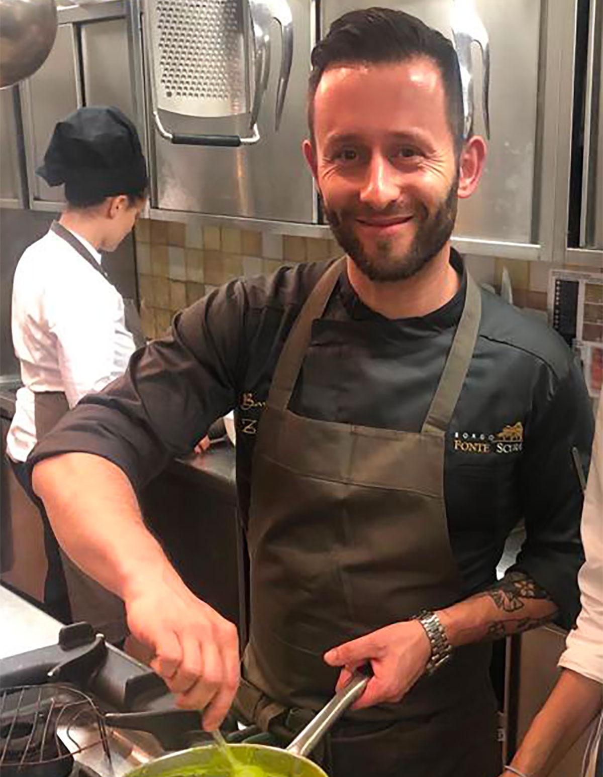 Bartek Zaleski chef di Borgo Fonte Scura