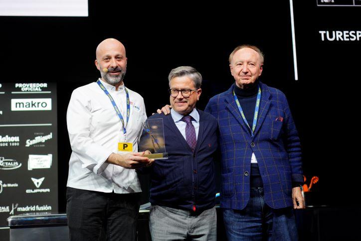Niko Romito premiato a Madrid (ph. sito madridfusion.net)